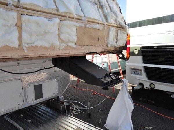 RV repair travel trailer